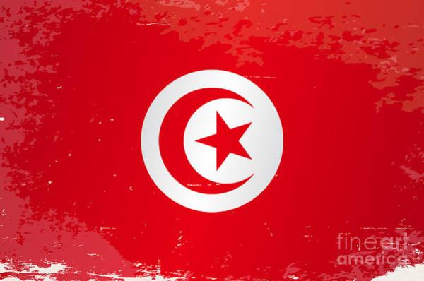 Tunisia Digital Art - Tunisia Grunge Flag by Bigalbaloo Stock