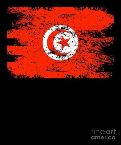 Tunisia Digital Art - Tunisia Shirt Gift Country Flag Patriotic Travel Africa Light by J P