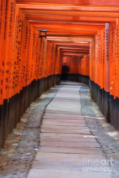 Kansai Region Wall Art - Photograph - Tunnel Of Torii Gates At Fushimi Inari Shrine by Ei Katsumata