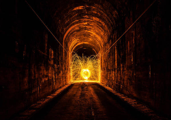 Steel Wool Photograph - Tunnel Sparks by Pelo Blanco Photo