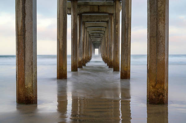 Scripps Pier Photograph - Tunnel To The Sea by Joseph S Giacalone