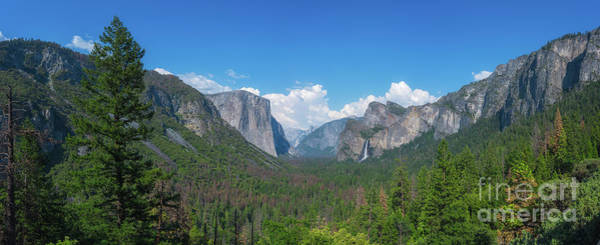 Wall Art - Photograph - Tunnel View Panorama  by Michael Ver Sprill