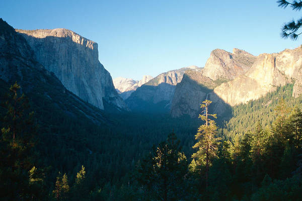 George Canyon Photograph - Tunnel View Yosemite Valley California by George Oze