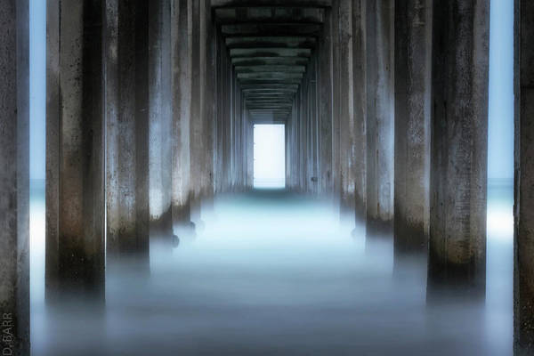 Scripps Pier Photograph - Tunnel Vision by Doug Barr