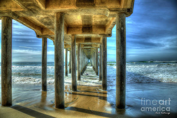 Photograph - Tunnel Vision Huntington Beach Pier California Surfing Los Angeles Collection Art by Reid Callaway