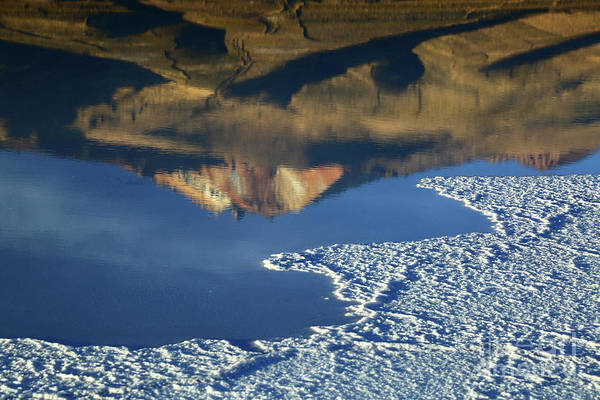 Photograph - Tunupa Volcano Reflections Salar De Uyuni Bolivia by James Brunker