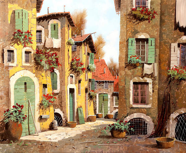 Village Painting - Tuorlo by Guido Borelli