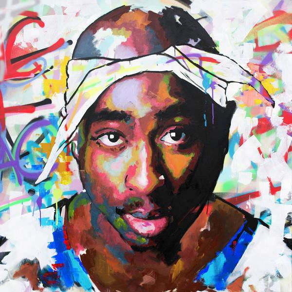 Spray Paint Painting - Tupac Shakur II by Richard Day