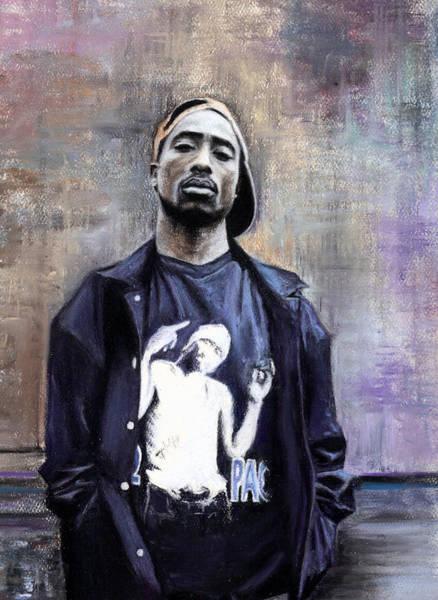 2 Wall Art - Pastel - Tupac Shakur by Raymond Lee Warfield Junior