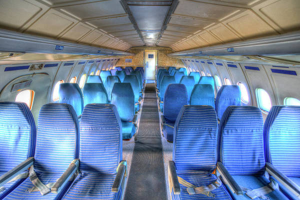 Wall Art - Photograph - Tupolev Tu-154 Russian Airliner Seating by David Pyatt