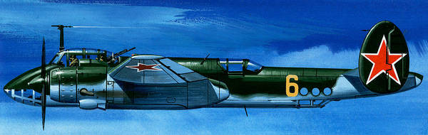 Wall Art - Painting - Tupolev Tu-2 Russian Bomber by Wilf Hardy