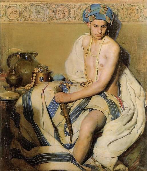 Gabriel Painting - Turbaned Oriental  by Gabriel Raya Morcillo