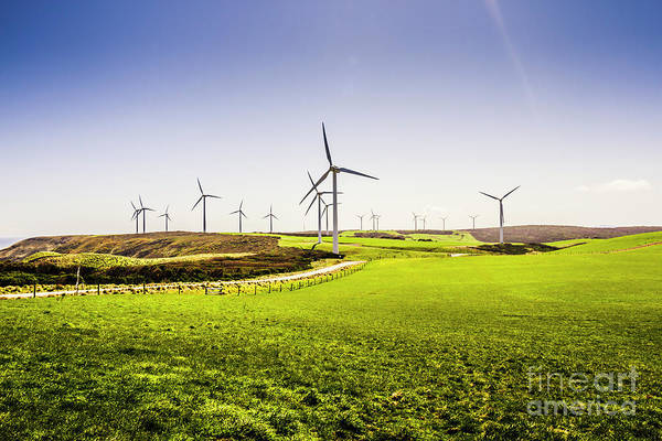Electricity Photograph - Turbine Fields by Jorgo Photography - Wall Art Gallery