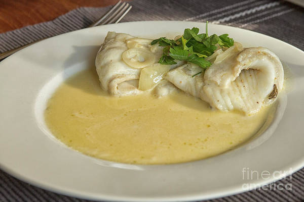 Prat Photograph - Turbot With Wine Sauce by Patricia Hofmeester