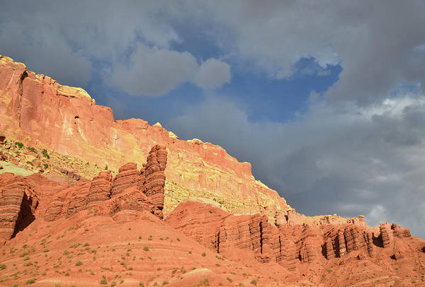 Photograph - Turbulence Over Capitol Reef by Ray Mathis