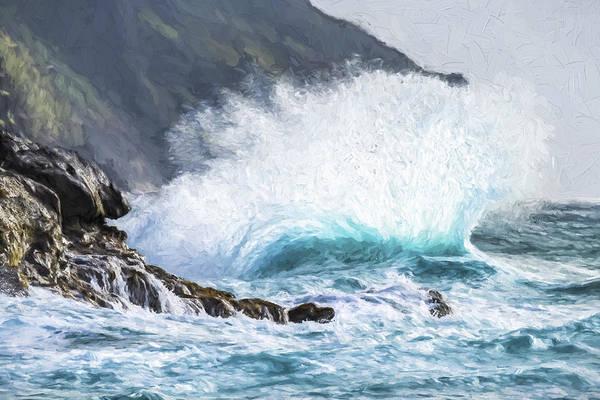 Digital Art - Turbulent Shore II by Jon Glaser