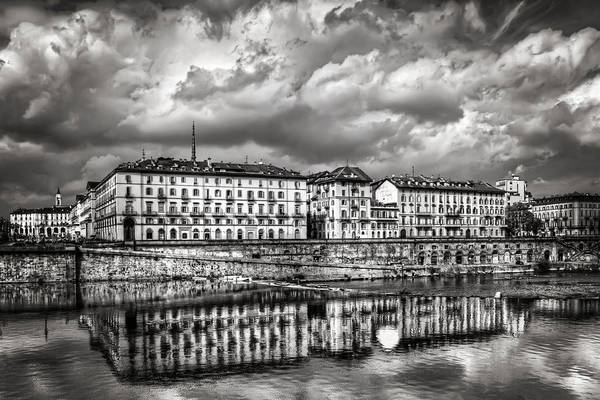 Monotone Photograph - Turin Shrouded In Cloud by Carol Japp