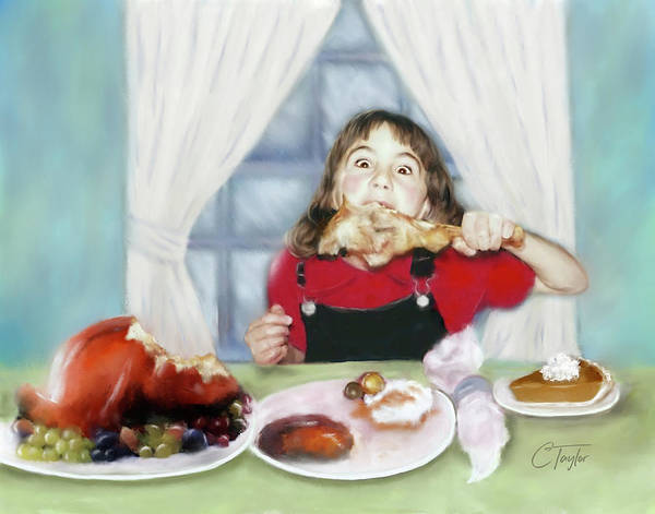 Thanksgiving Digital Art - Turkey Girl by Colleen Taylor