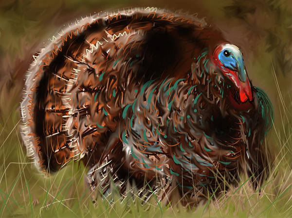 Painting - Turkey In The Straw by Jean Pacheco Ravinski