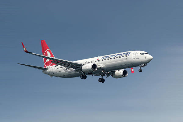 Boeing Mixed Media - Turkish Airlines Boeing 737-9f2 by Smart Aviation