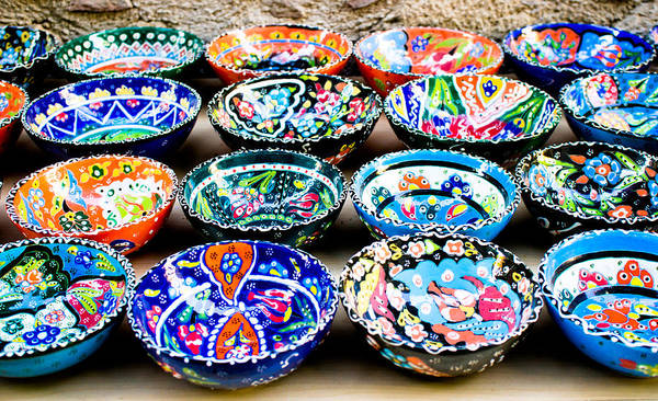 Glazed Wall Art - Photograph - Turkish Bowls by Tom Gowanlock