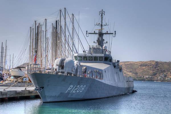 Wall Art - Photograph - Turkish Navy Tuzla Class Patrol Boat by David Pyatt