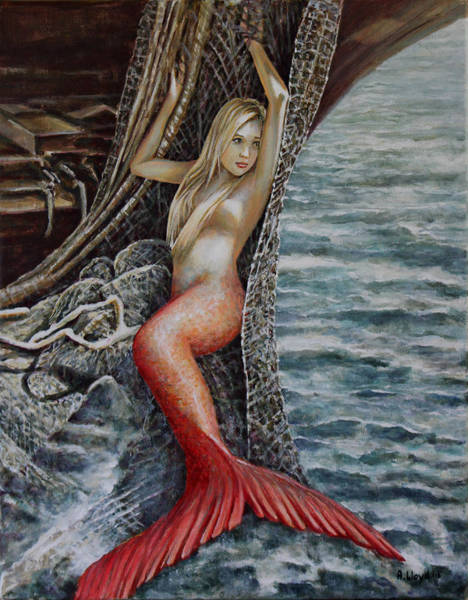 Netting Painting - Turn Loose The Mermaid 2 by Andy Lloyd