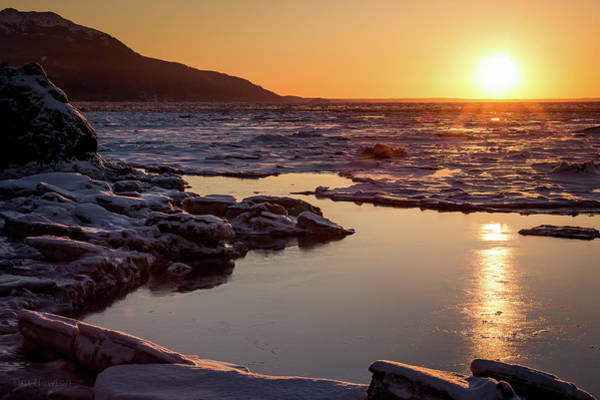 Photograph - Turnagain Ice Tide by Tim Newton