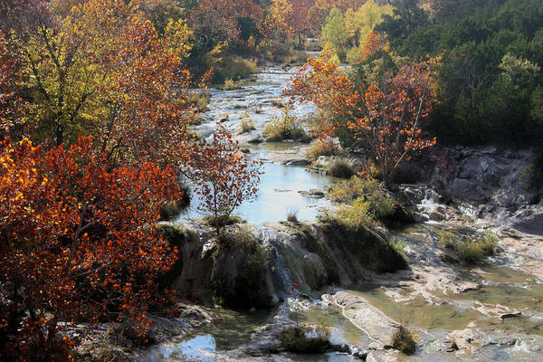 Photograph - Turner Falls Creek In Fall by Sheila Brown