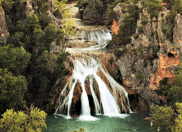 Photograph - Turner Falls Waterfall In Spring by Sheila Brown