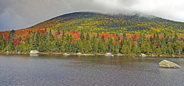 Turner Mountain From Sandy Stream Pond During Fall In Baxter State Park Maine Art Print