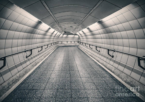 Tunnel Wall Art - Photograph - Turning Point by Evelina Kremsdorf