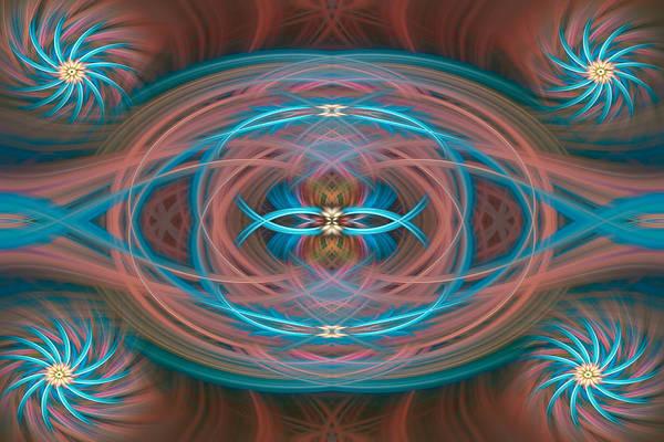 Digital Art - Turning Wheel 111 by Mary Almond