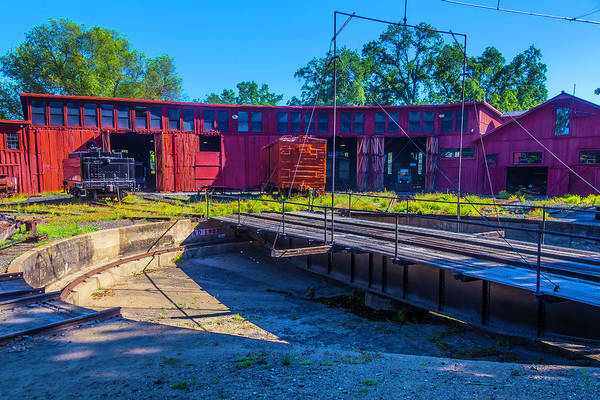 Box Car Photograph - Turntable At Roundhouse by Garry Gay