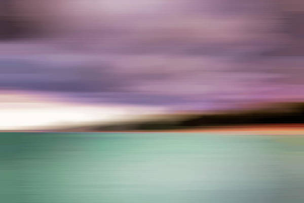 Photograph - Turquoise Waters Blurred Abstract by Adam Romanowicz