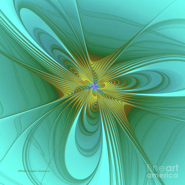 Digital Art - Turquois Abstract by Deborah Benoit