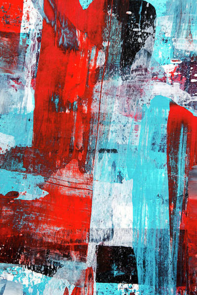 Painting - Turquoise And Red Abstract Painting by Christina Rollo