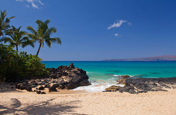 Rights-managed Wall Art - Photograph - Turquoise At Secret Beach Makena by David Olsen