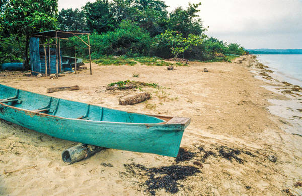 Photograph - Turquoise Canoe Negril by David Stone