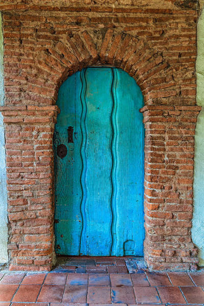 Photograph - Turquoise Door by Thomas Hall