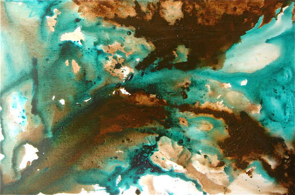 Comission Painting - Turquoise Flow by Angelika Mehrens