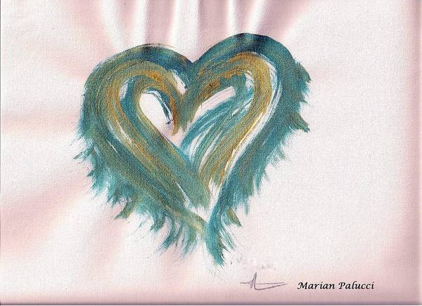 Photograph - Turquoise Light Heart by Marian Palucci-Lonzetta