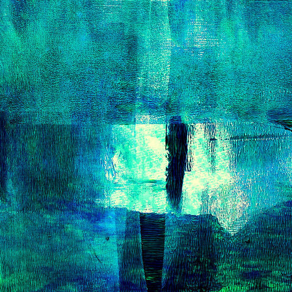 Wall Art - Painting - Turquoise Light Abstract Painting by Nancy Merkle