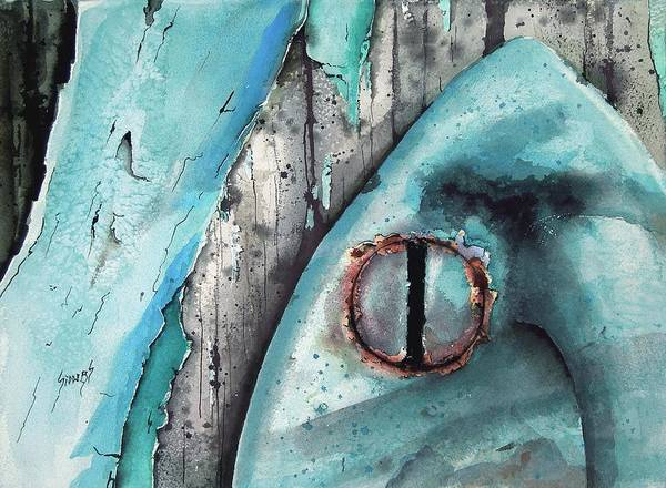 Painting - Turquoise Paint by Sam Sidders