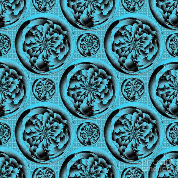 Relief Digital Art - Turquoise Pattern by Gaspar Avila