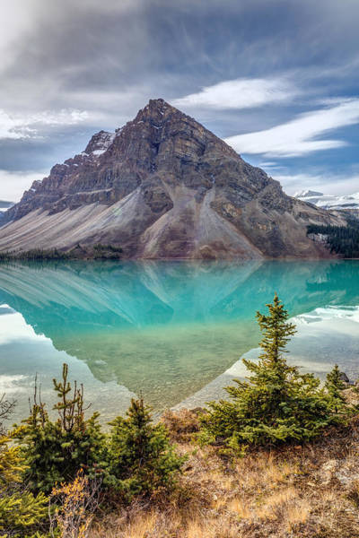 Photograph - Turquoise Reflection At Bow Lake by Pierre Leclerc Photography