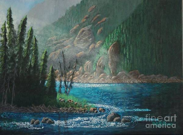Painting - Turquoise River by Bob Williams