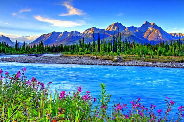 Canadian Landscape Photograph - Turquoise River by Scott Mahon