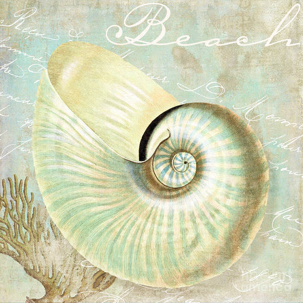 Saltwater Painting - Turquoise Sea Nautilus by Mindy Sommers