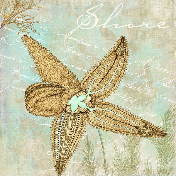 Saltwater Painting - Turquoise Sea Starfish by Mindy Sommers